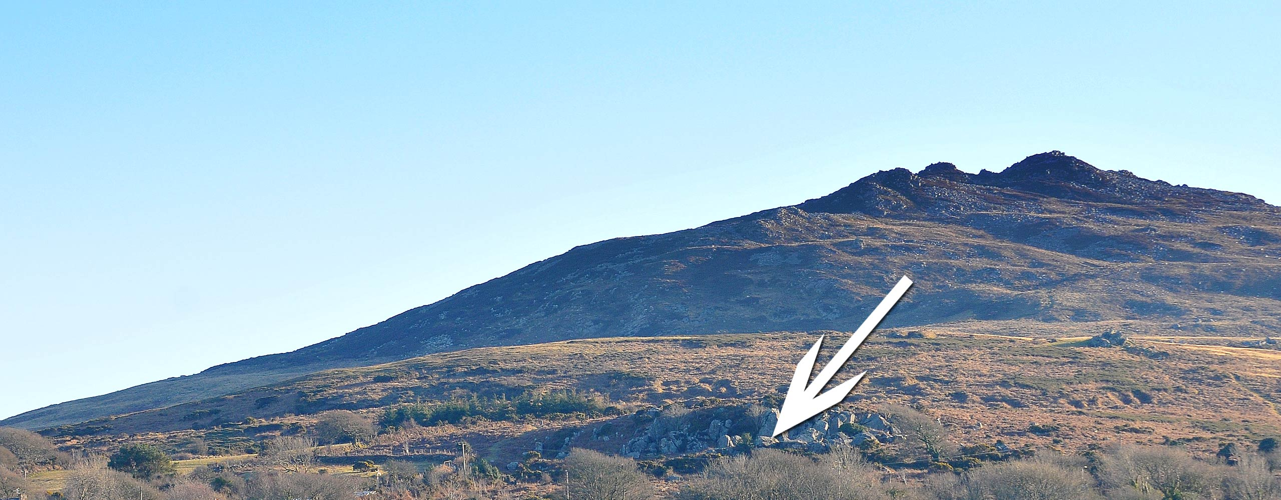 Image showing the location of the wishing well on Carningli Mountain