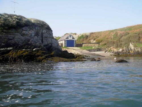 View of Lifeboat Station from Nevern Estuary